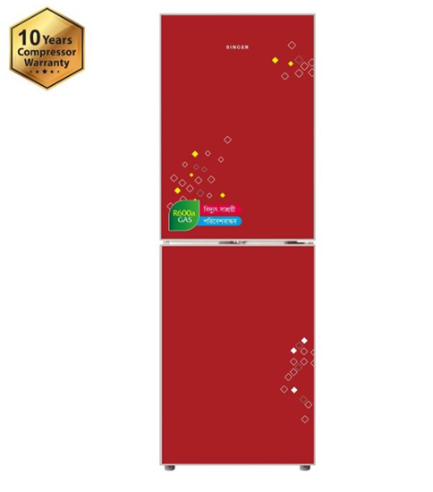 Picture of Refrigerator 186 Ltr Singer Red