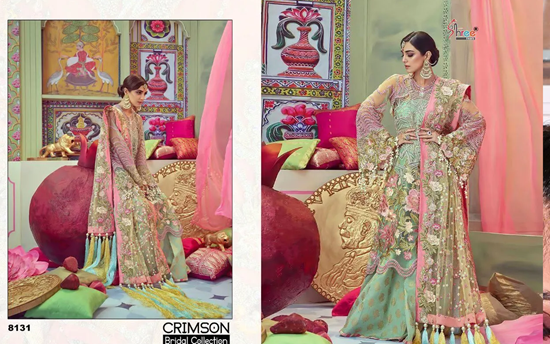 Picture of Shree Fabs Crimson Suits Bridal Collection Surat 8131-Asi1812-G76u 9392 1a00