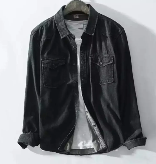 Picture of Denim Casual Shirt For Men