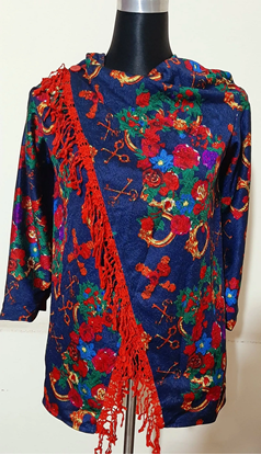 Picture of Western Poncho Deep Blue - 04 - Aob