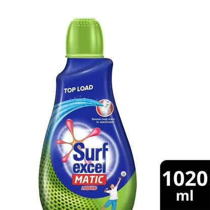 Picture of Surf Excel Matic Liquid Detergent Top Load 1020ml