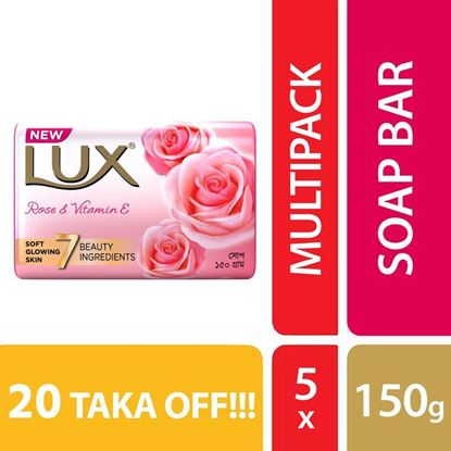 Picture of Lux Soap Soft Touch 125gX5 Multipack