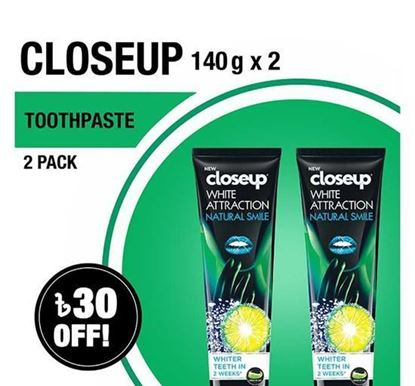 Picture of Closeup Toothpaste White Attraction Natural Smile 140gX2 Multipack