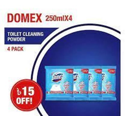 Picture of Domex Toilet Cleaning Powder 250mlX4 Multipack